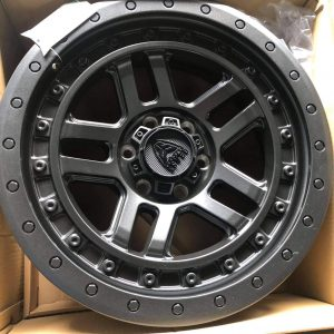 20″ Beast 9603 Matte Black 6Holes pcd 139 Bnew mags