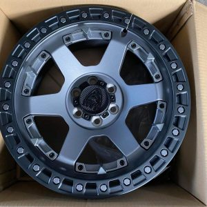 17″ Beast 9601 Mattegray Mags 6Holes pcd 114 Bnew fit Nissan Navara and Terra