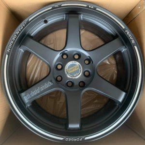 17″ TE37 Design Black QC617 Mags 4Holes pcd 100-114 bnew